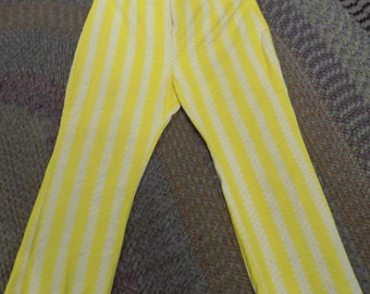 Fantastic Vintage Yellow and White Pants (Plus Size)