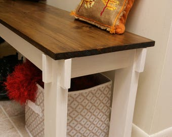 Wood Bench, Farmhouse Bench, Entryway Bench, Rustic Bench, Hallway Bench, Mudroom Bench, Unique Furniture, Gift For Mom, Entry Bench