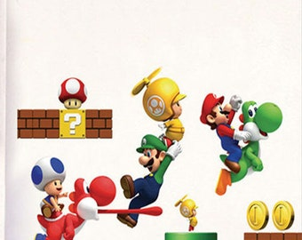 Super Mario Wall Sticker For Child Or Kidsu0027 Bedroom, 19 Pieces, Wall Sticker
