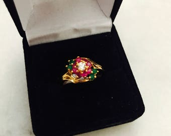 Gold-Plated Traditional Indian Ring