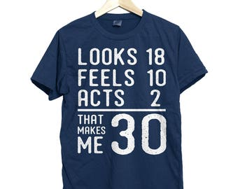 30th birthday shirt, 30th birthday for him, 30th birthday for her, 30th birthday gift, shirt for 30th birthday, gift for 30th birthday shirt