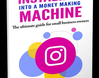 Social Media Marketing eBook - Instant Digital Download - Instagram Advertising for Small Business - Etsy Shop Help - Etsy Store Guide