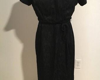 Volup Size L 1950s Brocade LBD