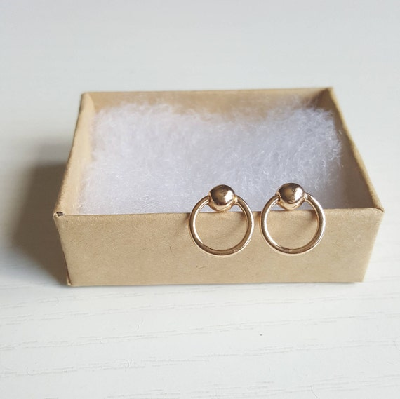 Gold Ball Earrings Gold Hoop Earrings Silver Hoop Earrings