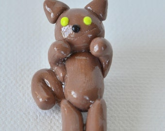 Cat Polymer Clay Chibi Charm, Polymer Clay, Charm, Cat,