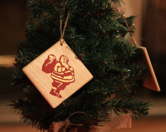 Christmas wooden decoration for hanging on Christmas tree or else! Santa Claus - Christmas ornaments - Christmas bauble