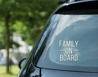 Family on board - vinyl on decal paper – car stickers