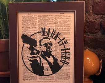 "The Big Lebowski vintage dictionary print featuring a Walter Sobchak ""Mark It Down"" - *FREE Shipping!"