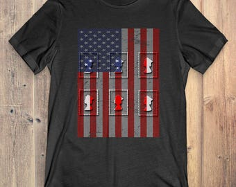 Stamp Collecting T-Shirt Gift: American Flag