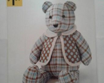 Teddy Bear & Vest Simplicity Pattern OOP A2115