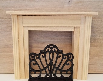 Dollhouse Miniatures, Miniature Fireplace Screen, Fireplace Accessories, Dollhouse Furniture, Dollhouse Accessories, Screen for Fireplace