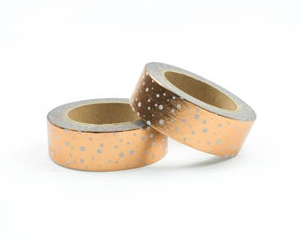 Copper foil washi tape with dots