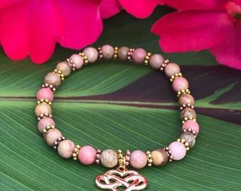 """""""Forever"""" bracelet with rhodonite"""