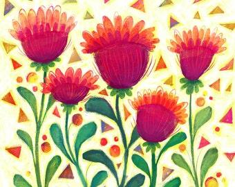 Happy Birthday Confetti flower Card