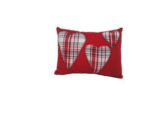 Trio heart cushion