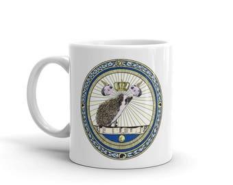 Hedgehog Mug:  Princess Pricklepants Official Seal by Urchin Wear