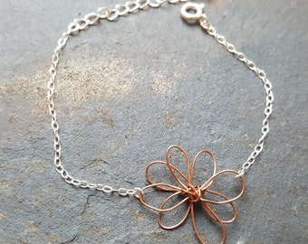 Daisy Bracelet, Flower Bracelet