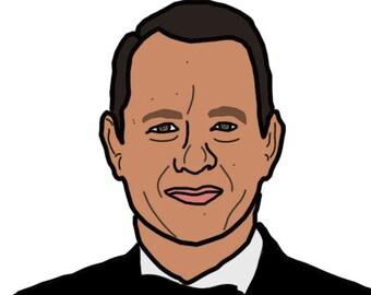 Tom Hanks Stickers; APRdesignsUSA