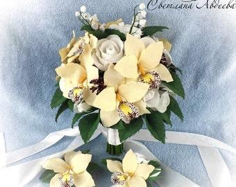 Beige bouquet Wedding bouquet Alternative bouquet Keepsake bouquet Bridal Bouquet Bridesmaid bouquet White bouquet Rustic bouquet Bouquets