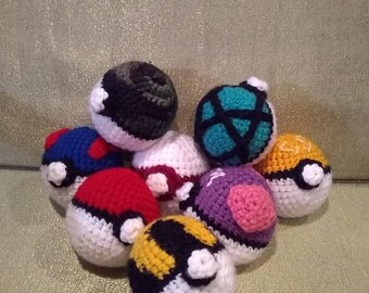 Crocheted Poke Ball