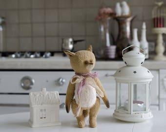 Teddy fox, 9 Inch (23sm) stuffed, teddy, interior toy, personalized,  teddy friend, art toy, art doll, Christmas gift