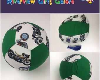 Balloon Ball Cover - Green Motorbikes