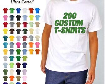200 Custom Screen Printed T-shirts
