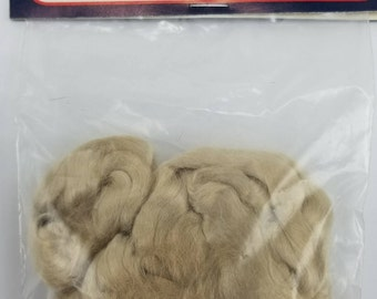 Flax Viscose Doll Hair 100% Viscose Replacement Hair Santa Beard Hair Angel Hair