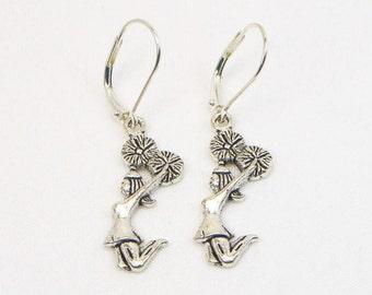 Cheerleader Earrings - Cheerleader - Cheerleader Coach - Cheerleader Gift - Dangle Earrings - Gift For Her
