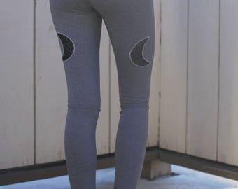 Yoga pants women / women's yoga pants / Yoga leggings / Yoga wear / moon phase leggings / hot yoga pants / grey legging / minimalist legging