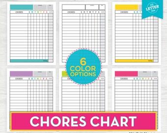 Kids Chore Chart Printable, Chore Chart System, Chart System, Chore Tracker, Kids Chores, Job Chart, Responsibility Chart, Household Chores