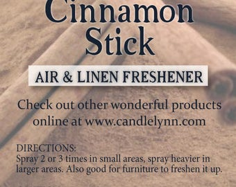 Fragrance Spray - CINNAMON STICK  - 8 oz  Bath & Home