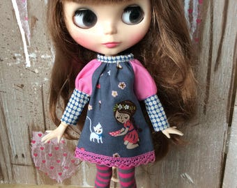 OOAK Blythe dress cat