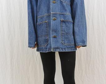 Vintage Big Smith Denim Barn Jacket, Size Medium, Men's, 90's, Grunge, Hipster, Workwear, Farmer, Tumblr Clothing