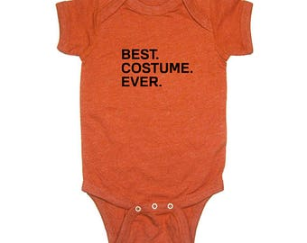 Best. Costume. Ever. Halloween baby one piece - Heather Black/Heather Orange - 0-6 month, 6-12 month, 12-18 month, 18-24 month -