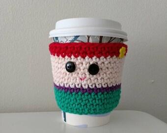 Ariel Cup Cozy - crochet - coffee cozy - mermaid - princess - cup cozies
