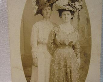 1900 Studio Portrait of Two Girlfriends  Bird Brown and Laura Webster