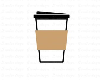 Coffee Cup SVG, Coffee Cup to go SVG, Silhouette Files, Cricut Files