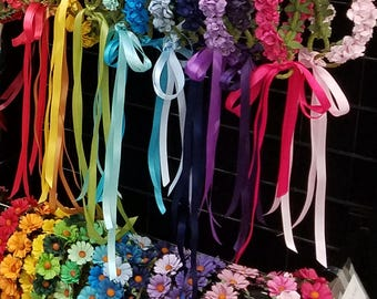Paper Rose or Daisy Flower Crown - 15+ Colors Available