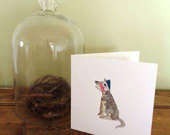 Elizabeth Collar Dog Art Card