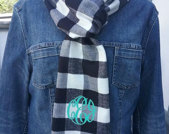 Winter Scarf with monogram or name - 34 colors  Free Shipping