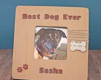 Best Dog Ever Photo Frame, Personalized Dog Picture Frame, Dog Lover Gift, Gift for Dog Mom