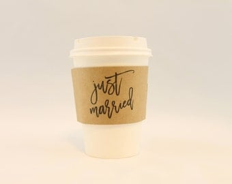 Just Married Coffee Sleeves FREE SHIPPING