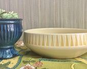 Urban Jungle. Planter Pot for Succulents. Authentic Vintage Pale Yellow Ceramic Planter.