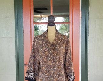 Vintage 1990's Sag Harbor Long Sleeved Button Down Blouse