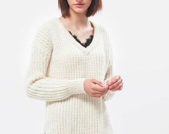 Alpaca sweater / Oversized sweater / Alpaca pullover / Alpaca turtleneck / Wool sweater / Chunky knit / Chunky sweater / Ragazzo Sweater