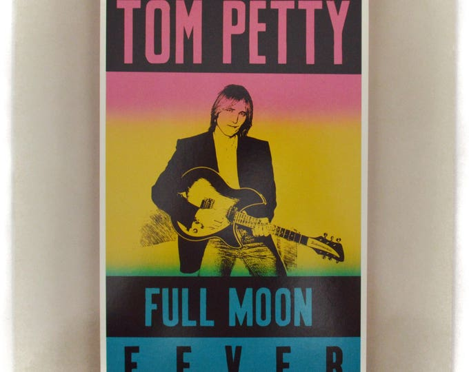 Vintage 80s Tom Petty Full Moon Fever Rock and Roll Album Record Vinyl LP