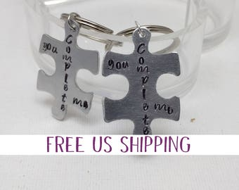 Puzzle Piece Pendant, valentine gift, Couples Gift, Best Friend Gift, Partners in Crime Gift, Gift for Friends, Roommate gift, Just because