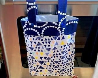 Hanging Kitchen Wet Bag - Laundry Bag - Unpaper Towel Bag - Car Trash Bag - Blue Mojave
