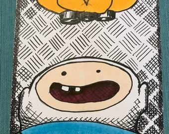 Finn & Jake  4x6 Original